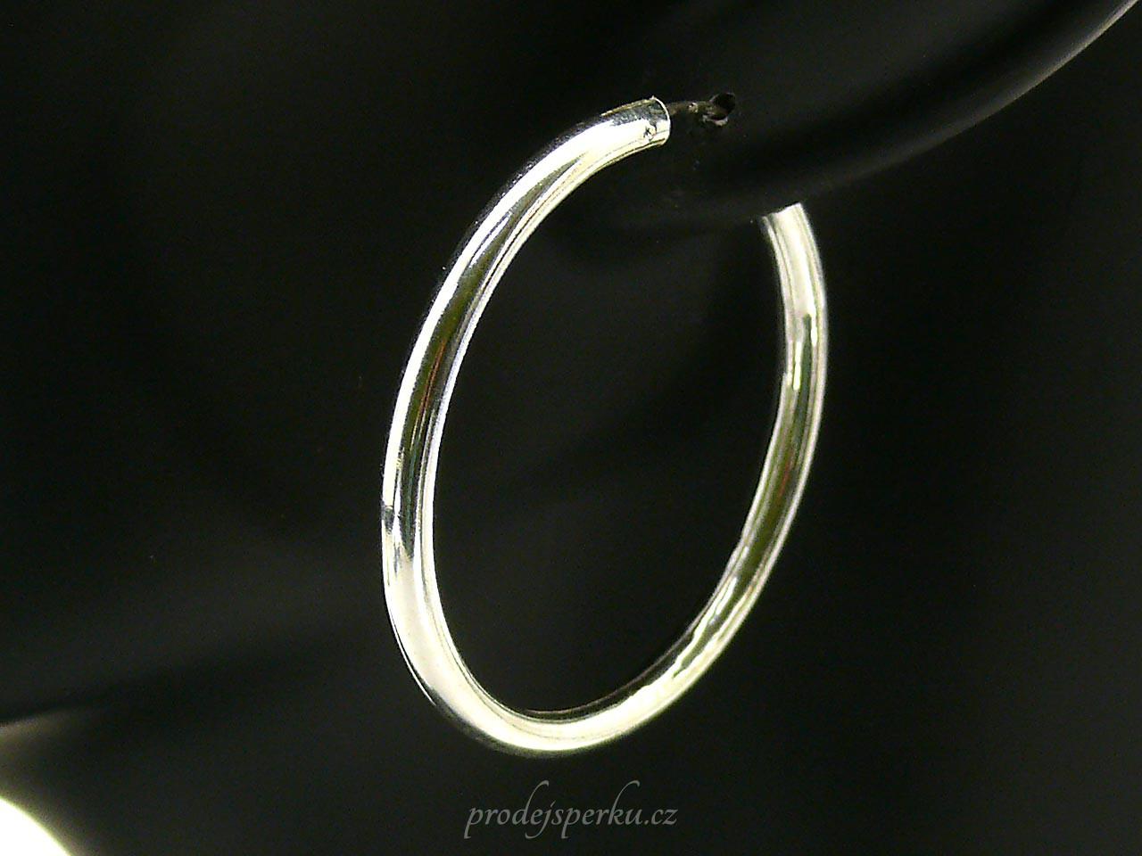 Kruhy hladké stříbrné náušnice 4cm - prodejsperku.cz 1f65c9f284f